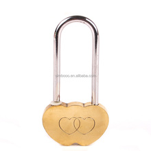 Brass Love Heart Shaped Padlocks on Bridges