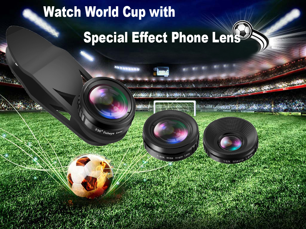 Universal clip fisheye wide angle macro cell lens kit for smart mobile phone lens
