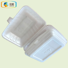 China plastic disposable biodegradable food packaging containers PLA foaming food meal box