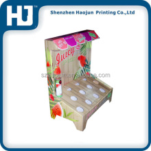 Fashion and unique design beautiful full color cardboard counter display box for friut juice