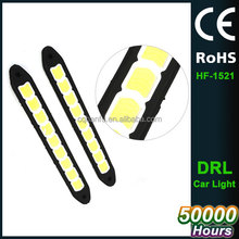 Flexible led COB DRL Waterproof Daytime Running Light Car Styling External Head Fog Light Brake Reverse Light