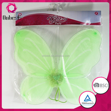 fancy green silk fabric butterfly wings elastic band for decoration kinds of hunmann