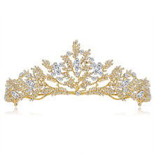 18k gold plated princess crystal tiaras and crowns