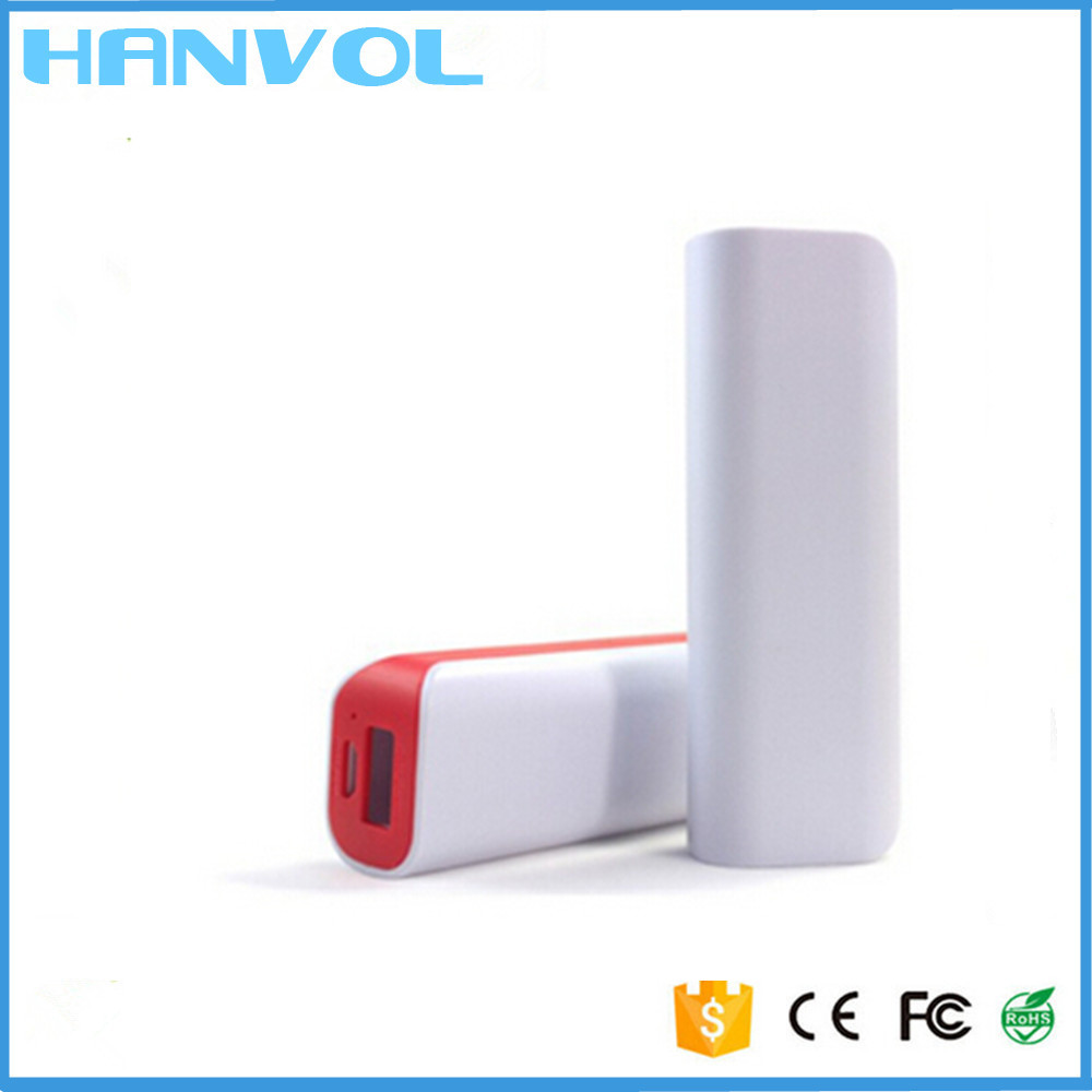 Promotional gift Portable Single 18650 lithium battery mini power bank 2600mah Phone charger powerbank