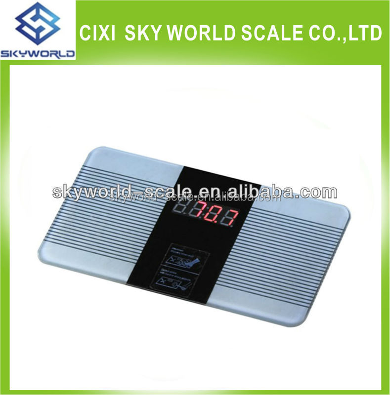 digital personal bathroom weighing scale large LCD 180kg CE&ROHS gym scale
