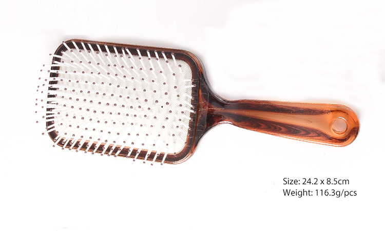 Plastic Hair Straightening Detangling Large Square Paddle Hair Brush
