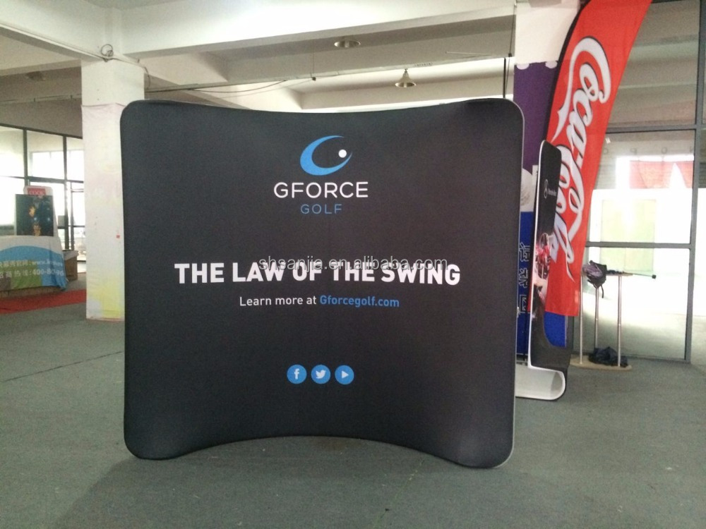 Advertising Tension Display Stand with Fabric Printing