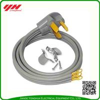 Customized ul approved 3 wire range power cord