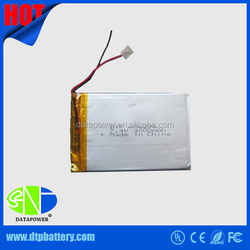 DTP best rechargeable dry cell battery 3.7v 4000mAh UL,CE & EMC testing report