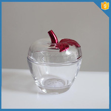 Electroplate crystal glass containers apple shaped antique candy jars