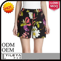 2015 top quality floral women sexy denim booty beach shorts