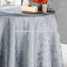Elegant round polyester tablecloth