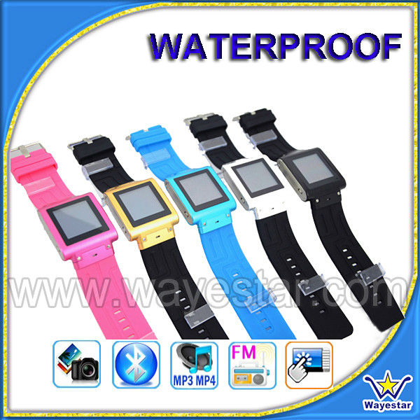 MTK6253 Quad band Bluetooth waterproof watch mobile phone W838