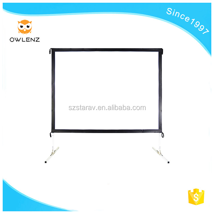Different from the traditional outside button-type folding screen picture frame projection screen