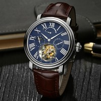 Luxury Men Business Watch Genuine Crocodile Leather Real Tourbillon Wrist Watch
