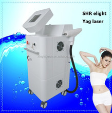 Professional Two handles SHR fast hair removal / yag laser tattoo removal equipment
