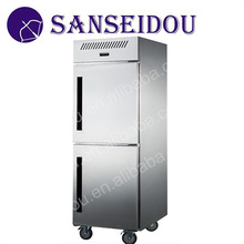 R8001-5 Commercial stainless steel freestanding electric double doors refrigerator
