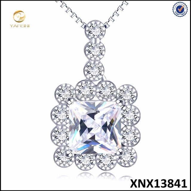2017 New Arrival Luxury 925 Sterling Silver Love Pendant Necklace for Women Wedding Fine Jewelry
