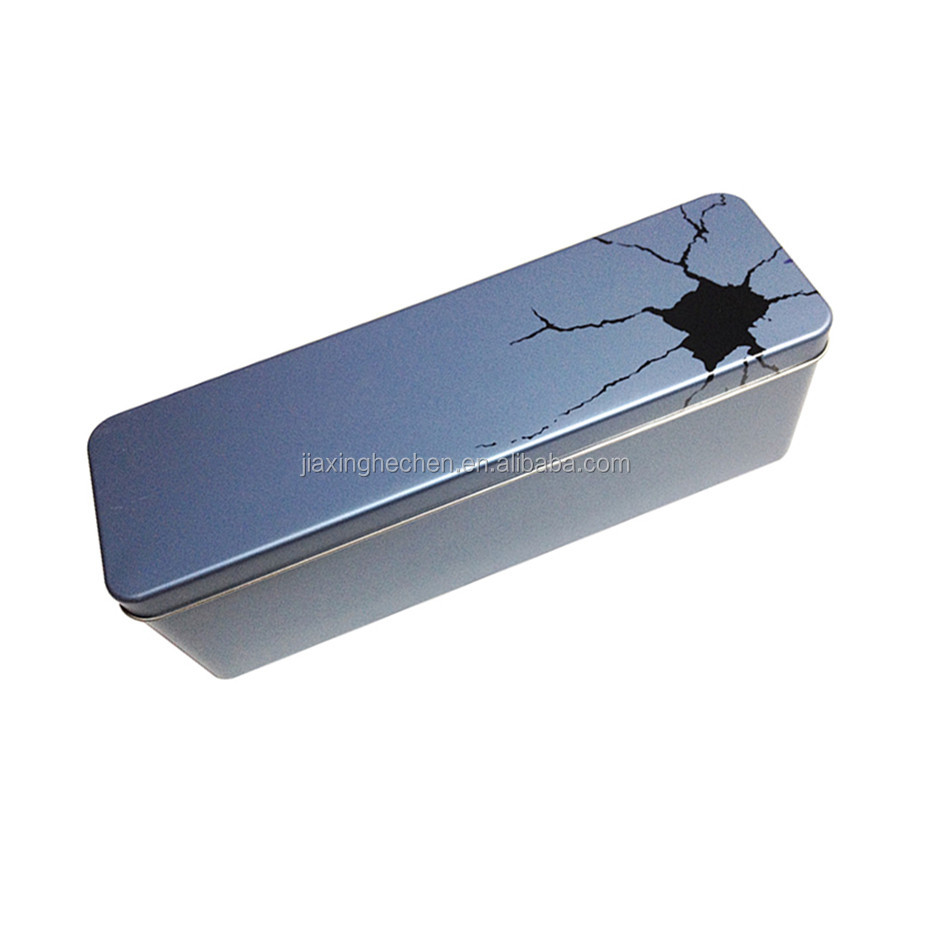 Custom logo rectangle towel tin box / metal packing tin box