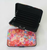 Aluminum printed pattern credit card holder/wallet