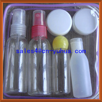 2014 best sell Zhejiang Yuyao Yuhui plastic travel bottle set ST-06 for girl's cosmetic