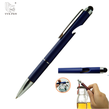 Novelty promotional gift metal bottle opener pen