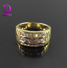 Gold plated sterling silver band eternity ring for engagement