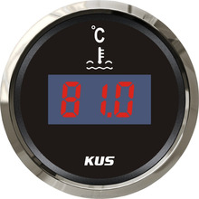 KUS 2&quot; Digital Water Temp Gauge Temperature <strong>Meter</strong> 25-120 Degree With Backlight 12V/24V
