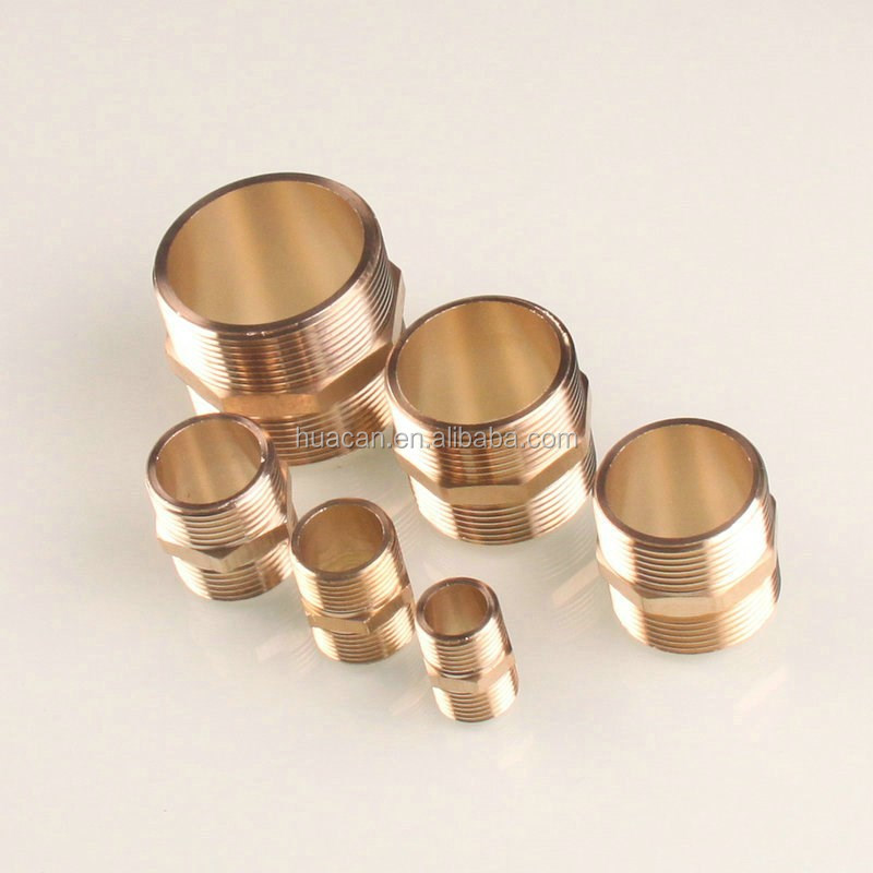 "Brass 1"" BSPT Thread Male Hex Nipples Connector Pipe <strong>Fitting</strong>"