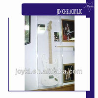 Acrylic Guitar Display Case Rack Hanger Holder Cabinet Shadow Box, with Lock, UV Protection