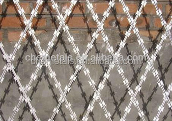 Galvanized Razor Barbed wire or razor type barbed wire and razor barbed wire
