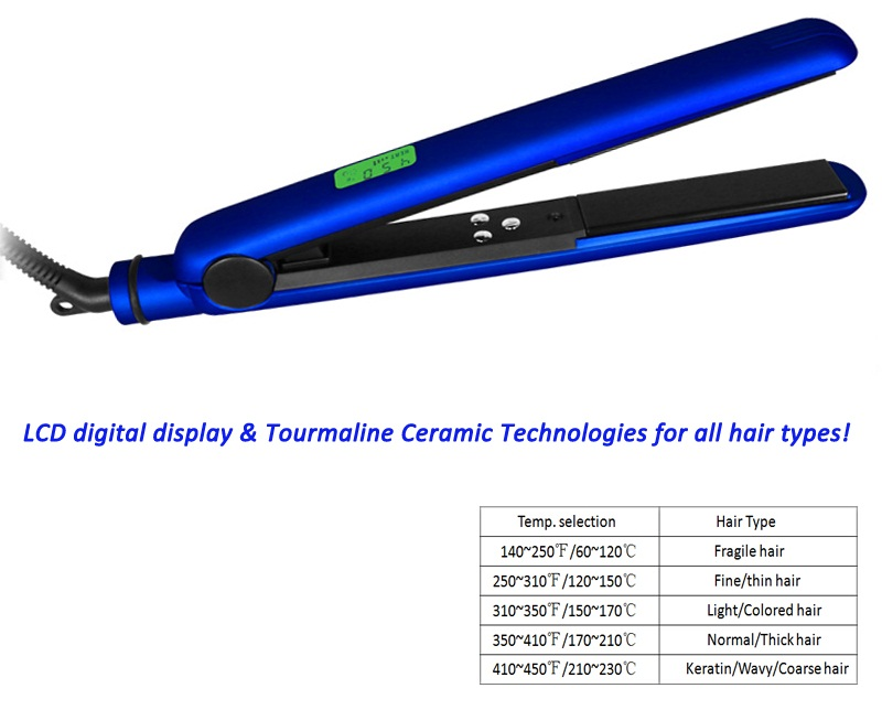 2017s Custom Flat Irons with Private Label Professional Digital Tourmaline Ceramic Flat irons Hair Straightener