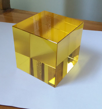 60mm Yellow Crystal Paperweights K9 Crystal Glass