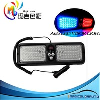 Red & Blue Sunshield 86 LED Emergency Warning Commercial Truck Boat Car Flash Strobe Visor Lights