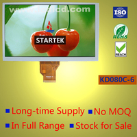 8.0 inch RGB interface WVGA Landscape TFT LCD 800*480 Stock for sale long-time supply