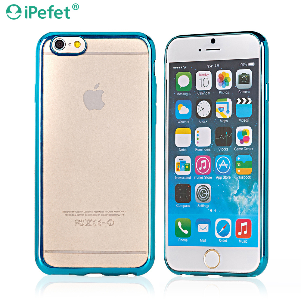 iPefet- 2 in 1 Hollow Netted Pattern Colorful Electroplate TPU Gel ultra thin Case Smartphone for iPhone 6s