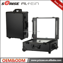 Professional DB-429T-B aluminum lighted makeup trolley case with lights