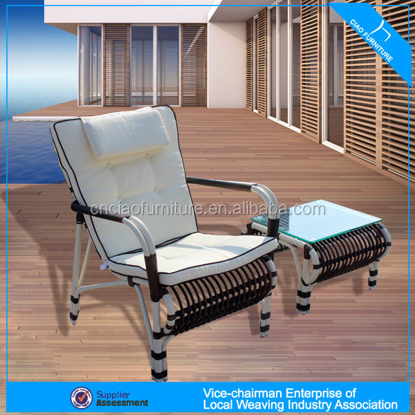 <strong>U</strong> Outdoor rattan furniture coffee table and chair (CF718C-<strong>2</strong>+CF718CT )