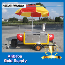 fast food trucks /hot dog cart for sale/ Mobile Kiosk trailers