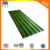 2.5mm thickness green color PVC composite roofing shingles for shed