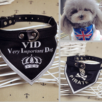 Hot Sale 3 Size S, M, L Cheap Nylon Triangle Bandana Dog with Collars