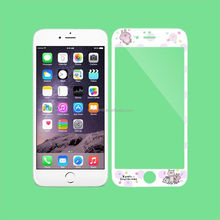 Cartoon Rabbit Front Color Tempered GLASS Screen Protector For iPhone 6 6S Plus 7 7 plus