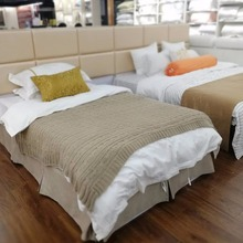 wholesale 4pcs white 100% cotton used twin size hotel bed sheets