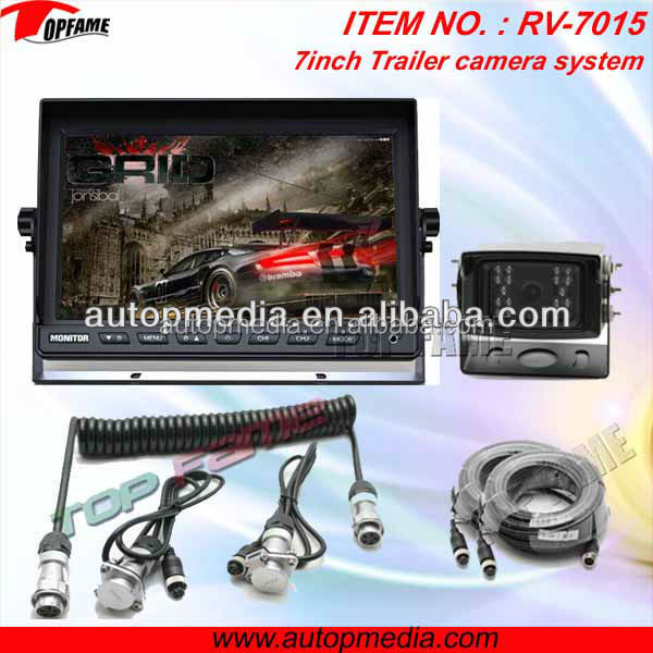 "RV-7015V dual camera rear view system with 7"" digital LCD monitor, HD CCD camera"