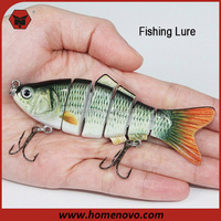Competitive Price ODM OEM Best Quality Outdoor Fishing Tool 6 Segments Artificial Bait Hard Fishing Lure