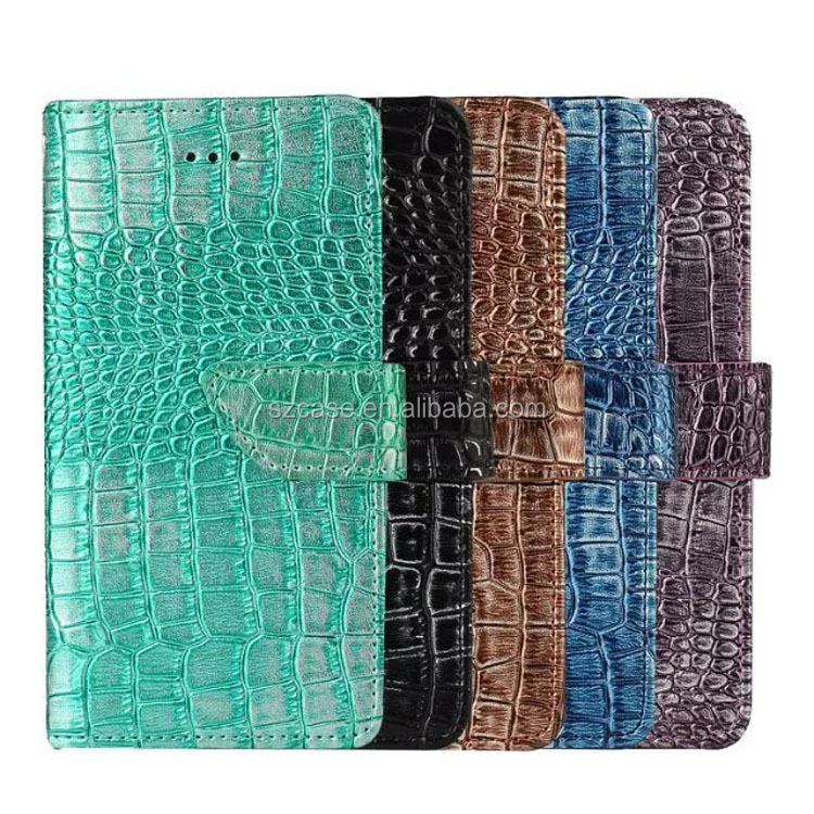 Hot Selling crocodile grain wallet mobile Phone Case for iPhone 7,for iphone 7 accessories,leather case for iPhone 7