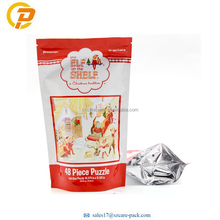 Self Sealing Self Standing Ziplock Bags Custom Print Puzzle Packaging Supplies Pouches