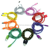 New Braided Wire USB charger Weave cable Date line sync adapter 1M 3FT cables For iphone 5 5s 6