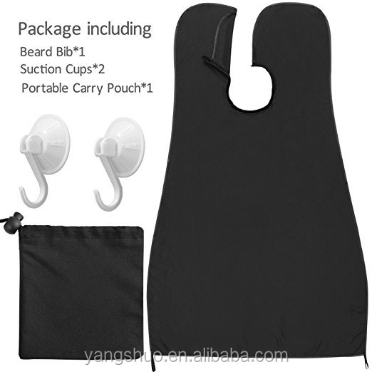 Hot sale hair clippings catcher & grooming cape black beard apron bib