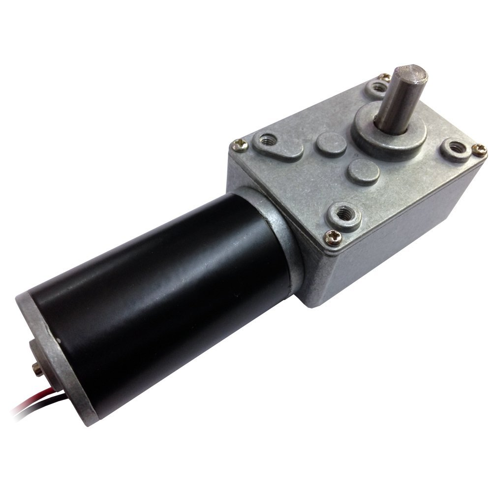 Small Electric 24 Volt Metal Gear Dc worm Geared Motor Reduction 80 RPM High Torque